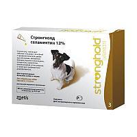 Капли от блох, глистов и клещей Стронгхолд 12% 60 мг для собак от 5.1 до 10 кг, Zoetis - 3 пип.