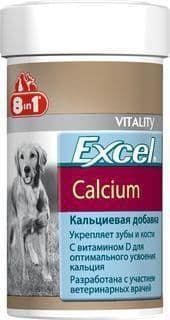 Кальциевая добавка Excel Calcium для крепких зубов и костей у собак и щенков, 8in1 - 470 табл.