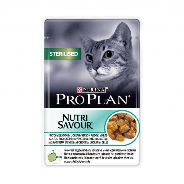 Корм Pro Plan для стерилизованных кошек и кастрированных котов (Рыба в желе) - 85 г