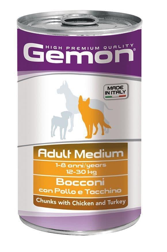 Консервы Monge Gemon Medium Adult для собак средних пород (Курица и индейка) - 1250 г