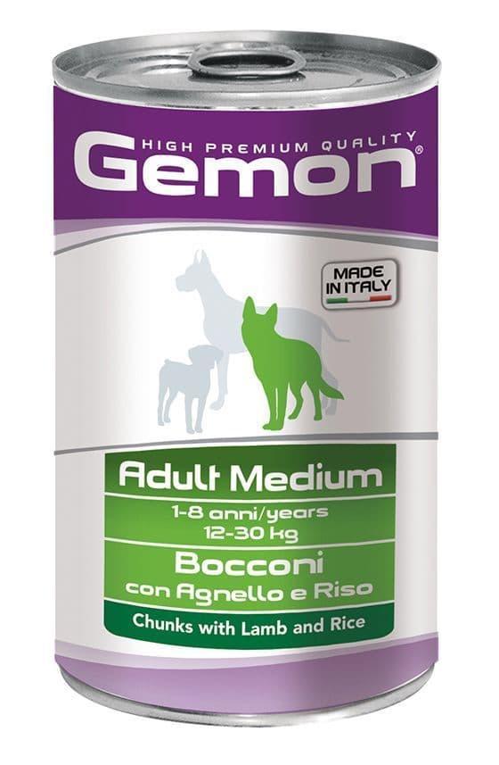 Консервы Monge Gemon Medium Adult для взрослых собак средних пород (Ягненок и рис) - 1250 г