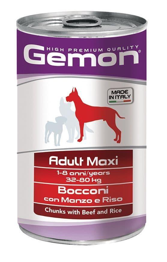 Консервы Monge Gemon Maxi Adult для взрослых собак крупных пород (Говядина и рис) - 1250 г
