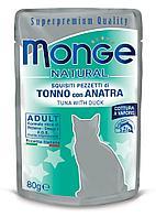 Корм Monge Adult для взрослых кошек (Тунец и утка в желе) - 80 г