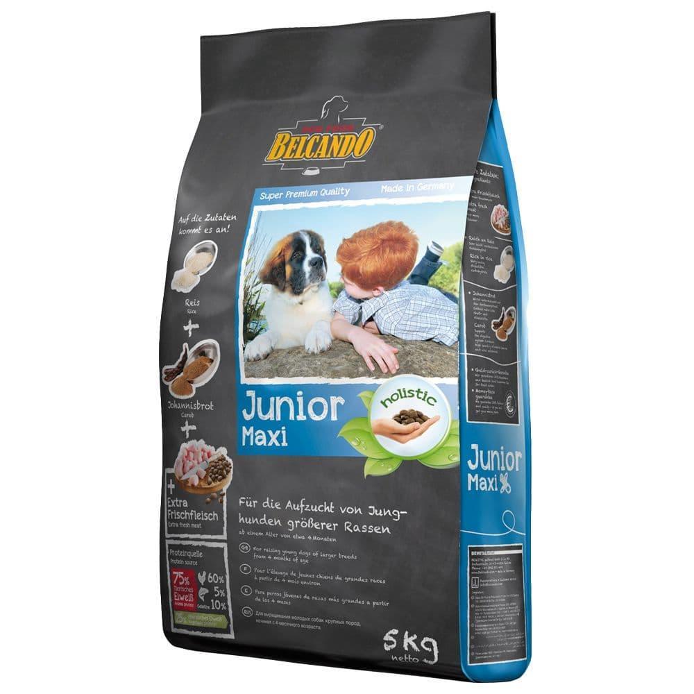 Корм Belcando Junior Maxi для щенков, крупных и гиганских пород (Птица с Рисом) - 5 кг