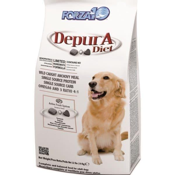 Корм Forza10 Depura Active для взрослых собак, для очищения организма от токсинов (Рыба) - 10 кг