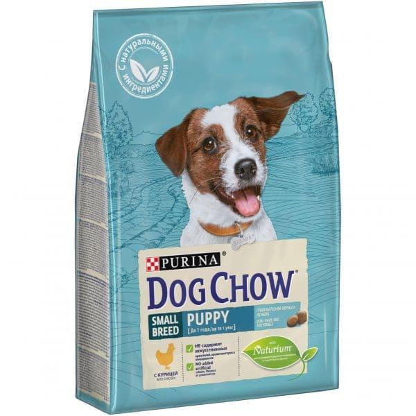 Корм Dog Chow для щенков, мелких пород (Курица) - 2.5 кг