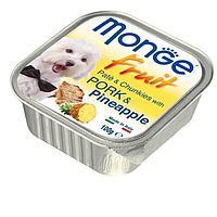 Паштет Monge Fruit Dog для собак, всех пород (Свинина с Ананасом) - 100 г