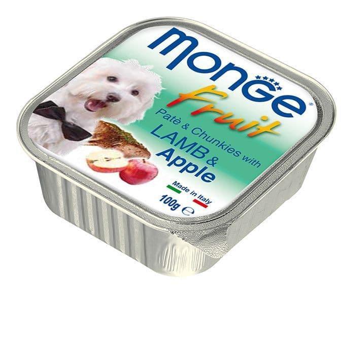 Паштет Monge Fruit Dog для собак, всех пород (Ягненок с Яблоком) - 100 г