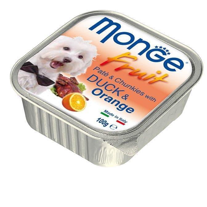 Паштет Monge Fruit Dog для собак, всех пород (Утка с Апельсином) - 100 г