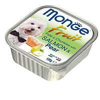 Паштет Monge Fruit Dog для собак, всех пород (Лосось с Грушей) - 100 г
