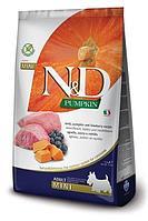 Беззерновой корм Farmina N&D Adult для взрослых собак мелких пород (Ягненок, Черника, Тыква) - 7 кг