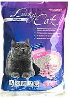 Впитывающий наполнитель Lucky Cat для туалета кошек (Сакура) - 22 л