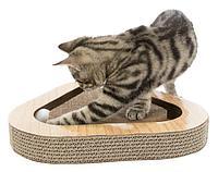 Когтеточка Trixie треугольной формы с кошачьей мятой (Коричневая) - 36×5×36 см