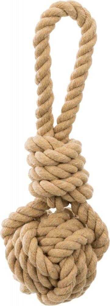 """Игрушка """"Плетеный мяч с веревкой"""" BE NORDIC для собак, Trixie - 8/30 см"""