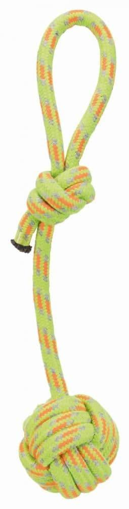 """Игрушка """"Плетеный мяч на веревке"""" для собак, Trixie - 7/37 см"""