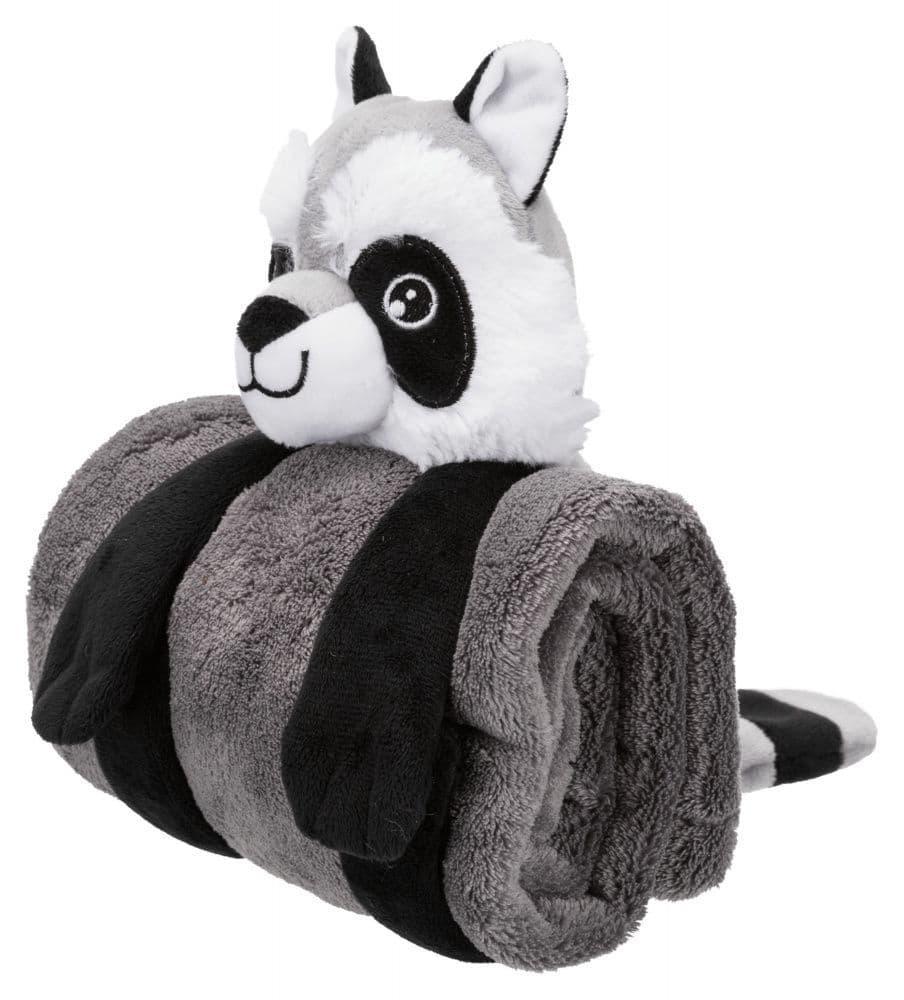 Подстилка лежак Trixie Cuddly Set для собак с игрушкой, плюш (Тёмно-Серый) - 75х50 см