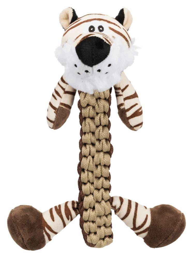 """Игрушка """"Плетеный тигр с пищалкой"""" для собак, Trixie - 32 см"""