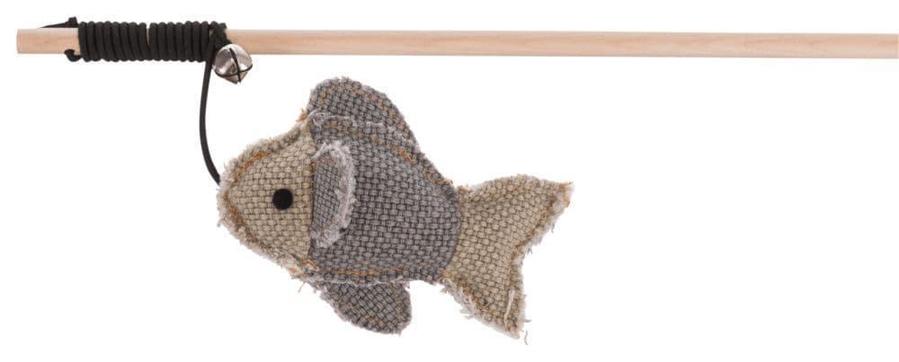 Игрушка для кошек BE NORDIC, удочка-дразнилка, с рыбкой, 45 cm