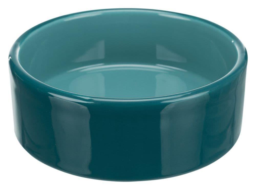 Керамическая миска Trixie, бирюзовая, 0.8л /ø16см
