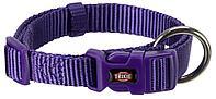 Premium ошейник для собак, фиолетовый, S–M: 30–45 cm/15 mm
