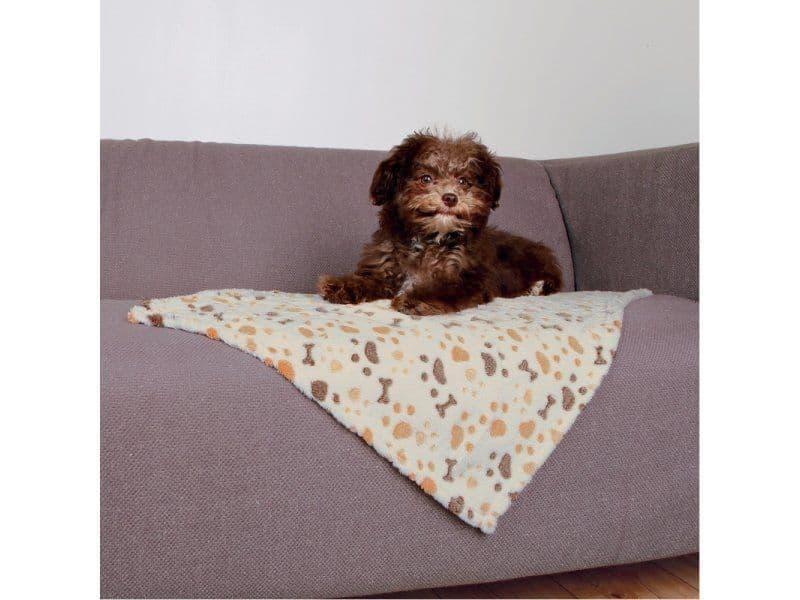 Подстилка лежак Trixie Lingo для собак (Белый/Бежевый) - 100х75 см