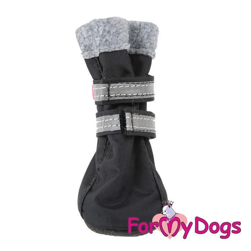 Сапоги на флисе ForMyDogs для собак (Черные), ПВХ - 1 р