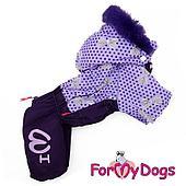 Комбинезон ForMyDogs для девочек (Фиолетовый) - 14 р