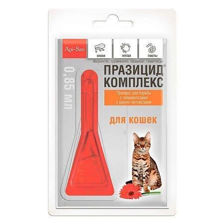 Празицид-комплекс Api-San для кошек, уп.1 пипетка