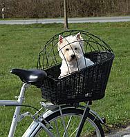 Велосипедная корзина Trixie для транспортировки собак, плетеная - 35х49х55см.