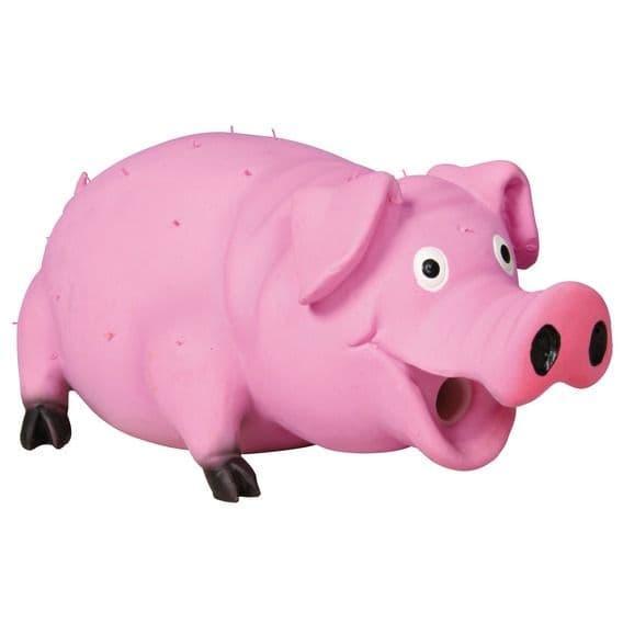 """Игрушка """"Свинья с флисовым заполнением и имитацией звука"""" для собак, Trixie - 21 см"""