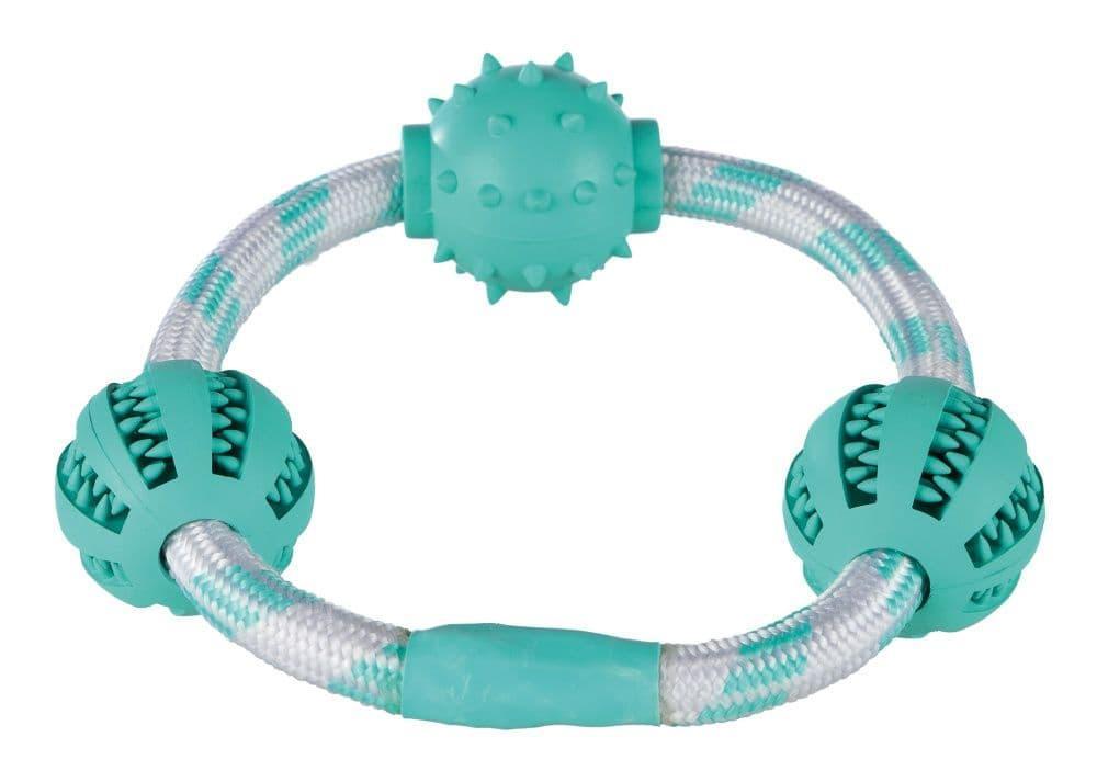 "Игрушка ""Кольцо"" Denta Fun для массажа десен собак, Trixie - 20 см"