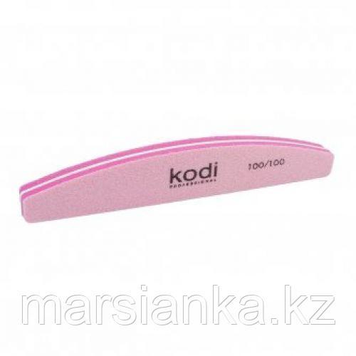 "Баф для ногтей Kodi 100/100 ""полумесяц"" розовый"