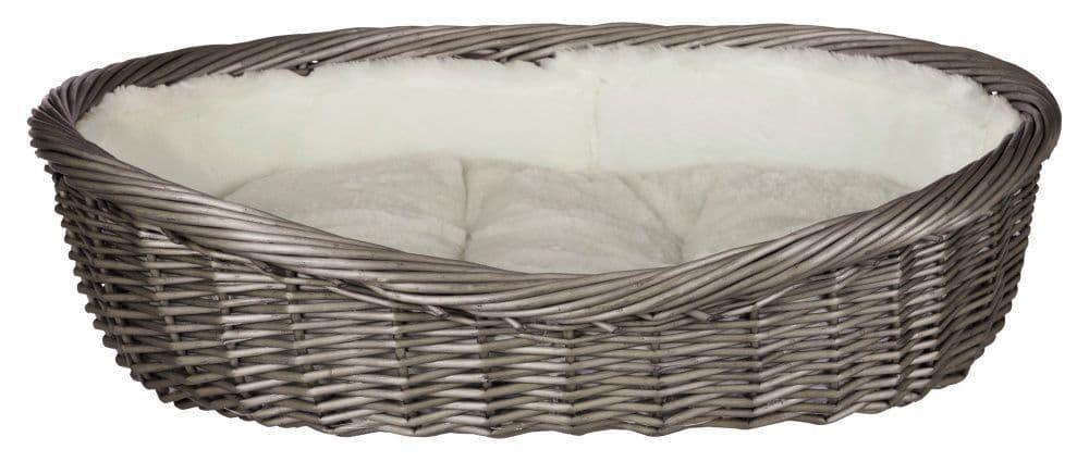 Корзина плетенная для собак с подкладкой и подушкой.