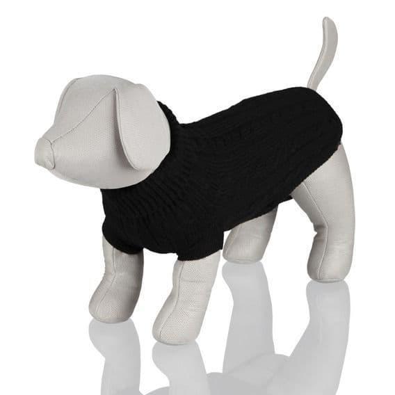 Пуловер шерстяной Trixie King of Dogs для собак (Черный) - XS - 30 см