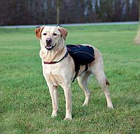 Шлейка - вьючная нейлоновая для собаки. Р-р L: 29 × 15 см, объем груди: 60-90см, цвет чёрный.