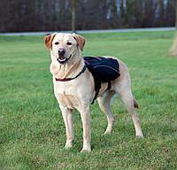 Шлейка - вьючная нейлоновая для собаки. Р-р L: 31 × 17 см, объем груди: 70-100см, цвет чёрный.
