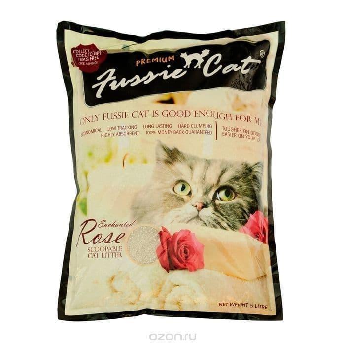 Комкующийся наполнитель Fussie Cat для кошачьего туалета (Розы) - 5 л