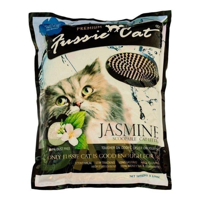 Комкующийся наполнитель Fussie Cat для кошачьего туалета (Жасмин) - 5 л