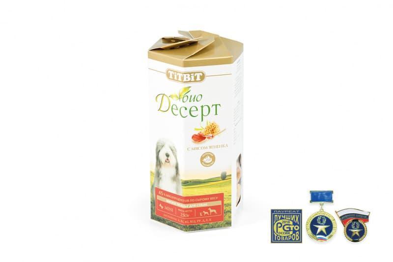 Печенье мини для собак (Ягненок), TitBit - 250 г