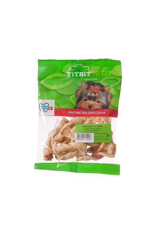 Плетенки из кожи для собак, TitBit - 35 г