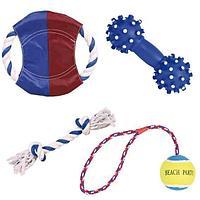 """Набор игрушек """"Лето"""" для собак, Trixie - 4 шт"""