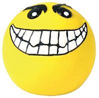 """Игрушка """"Мячик смайлик"""" с пищалкой для собак, Trixie - 6 см"""