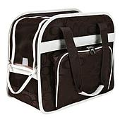 Нейлоновая сумка-переноска с карманом и коротким поводком - 39х20х32 см