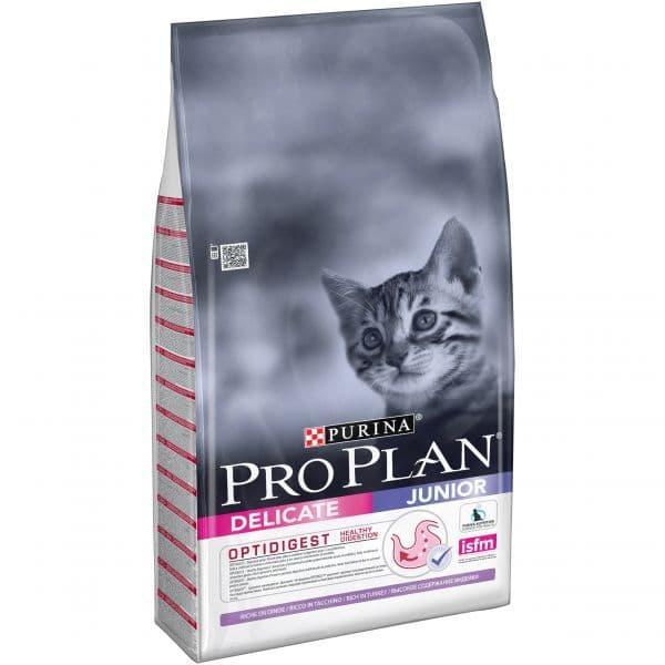 Корм Pro Plan Delicate Junior для котят с чувствительным пищеварением (Индейка) - 10 кг