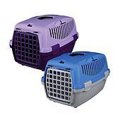 Транспортировочный бокс Trixie с дверью для животных до 8 кг (Серый/голубой) - 55 х 34 х 37 см
