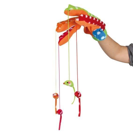 Перчатки из канвы для игры с кошкой с удлиненными пальцами