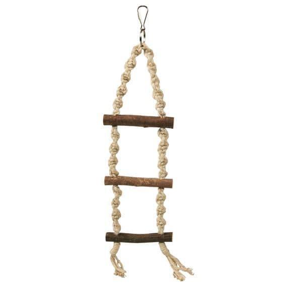 Игрушка Веревочная лестница Trixie для попугаев и канареек, из сизаля и дерева - 40 см