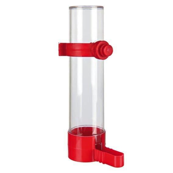 Пластиковая поилка и кормушка для мелких попугаев и канареек - 50 мл