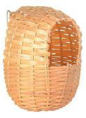 Плетеный домик для птиц из бамбука - 12х15 cм