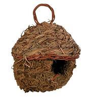 Плетеное гнездо для птиц из травы - 11 см